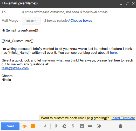 Mail Merge | Streak - CRM for Gmail
