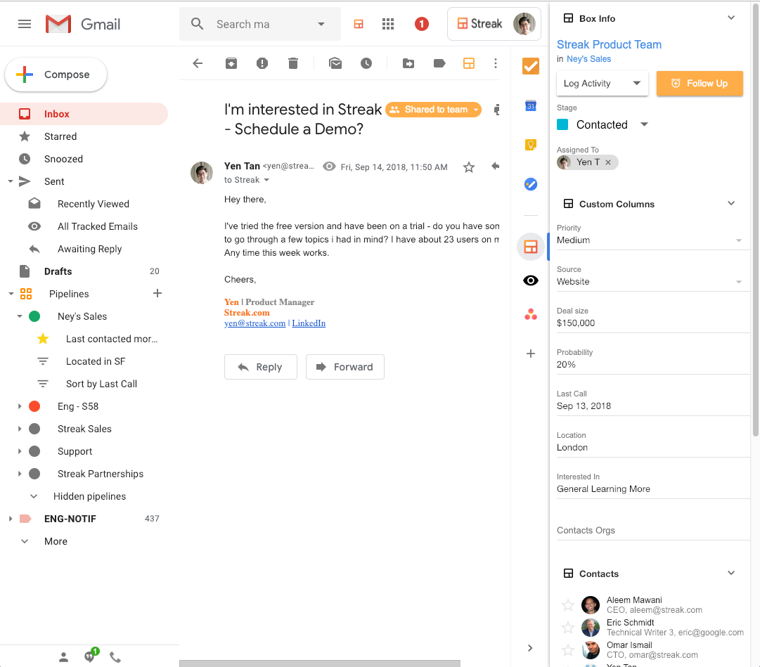 CRM for Hiring | Streak - CRM for Gmail