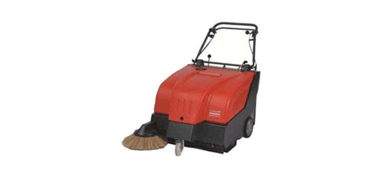 PowerBoss Walk Behind Sweeper Collector 34