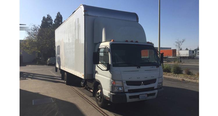 2012 FUSO FE160 22' CARGO TRUCK