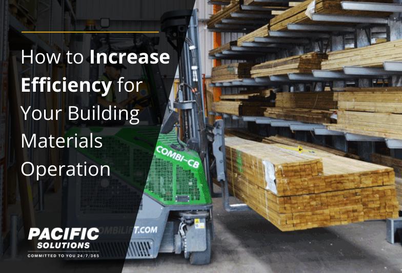 如何提高建筑材料业务的效率