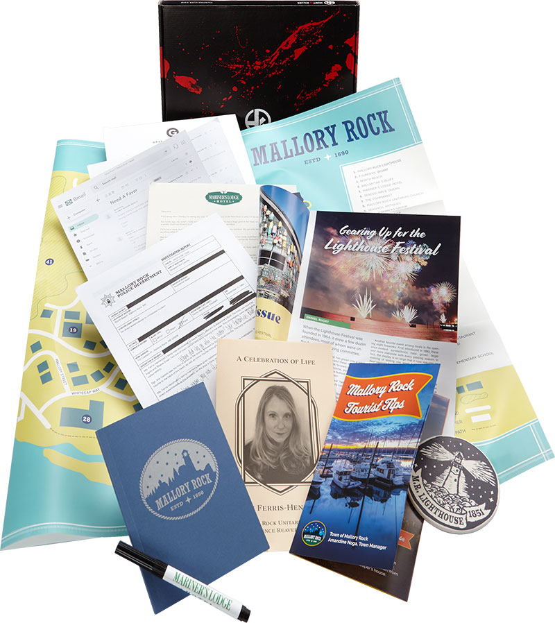 image of Mallory Rock game contents