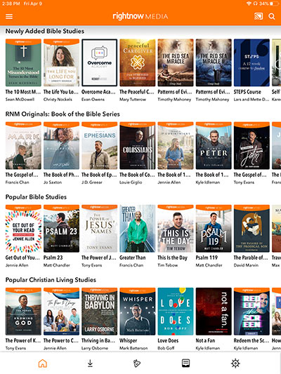 RightNow Media's Library of Bible Study Videos