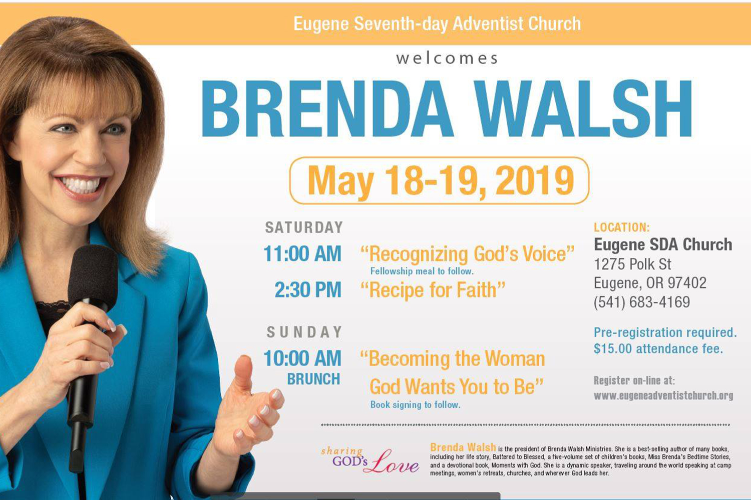 Women's Ministries Weekend with Brenda Walsh