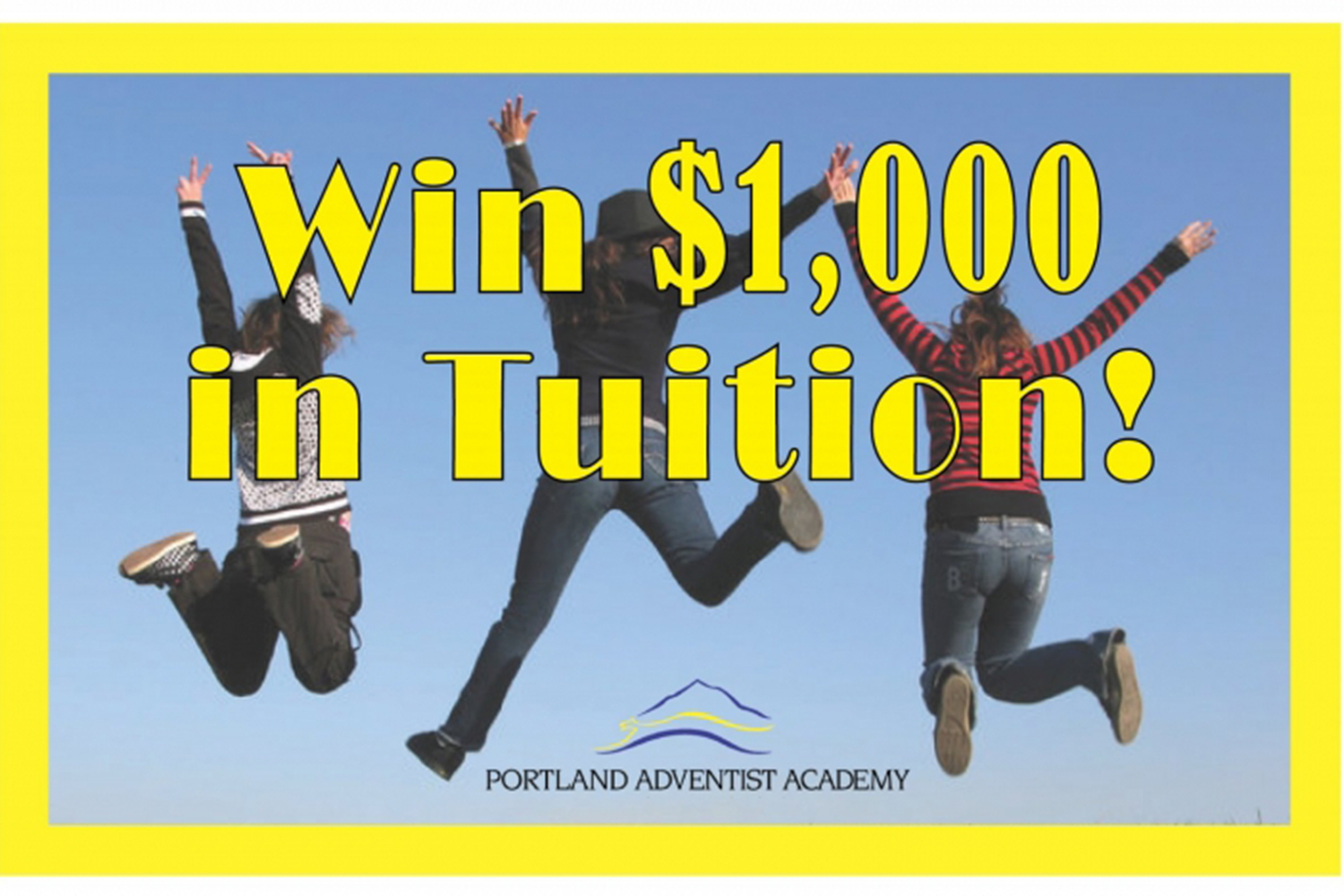 Portland Adventist Academy's $2,000 Enrollment Promotion