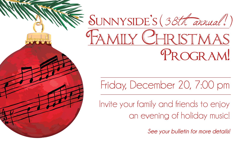38th Annual Sunnyside Family Christmas Musical