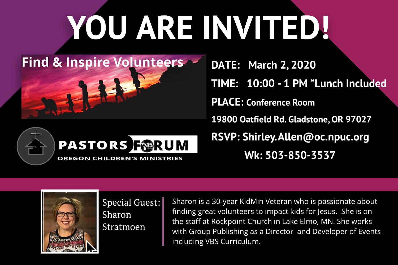 Oregon Conference Children's Ministries Pastors Forum