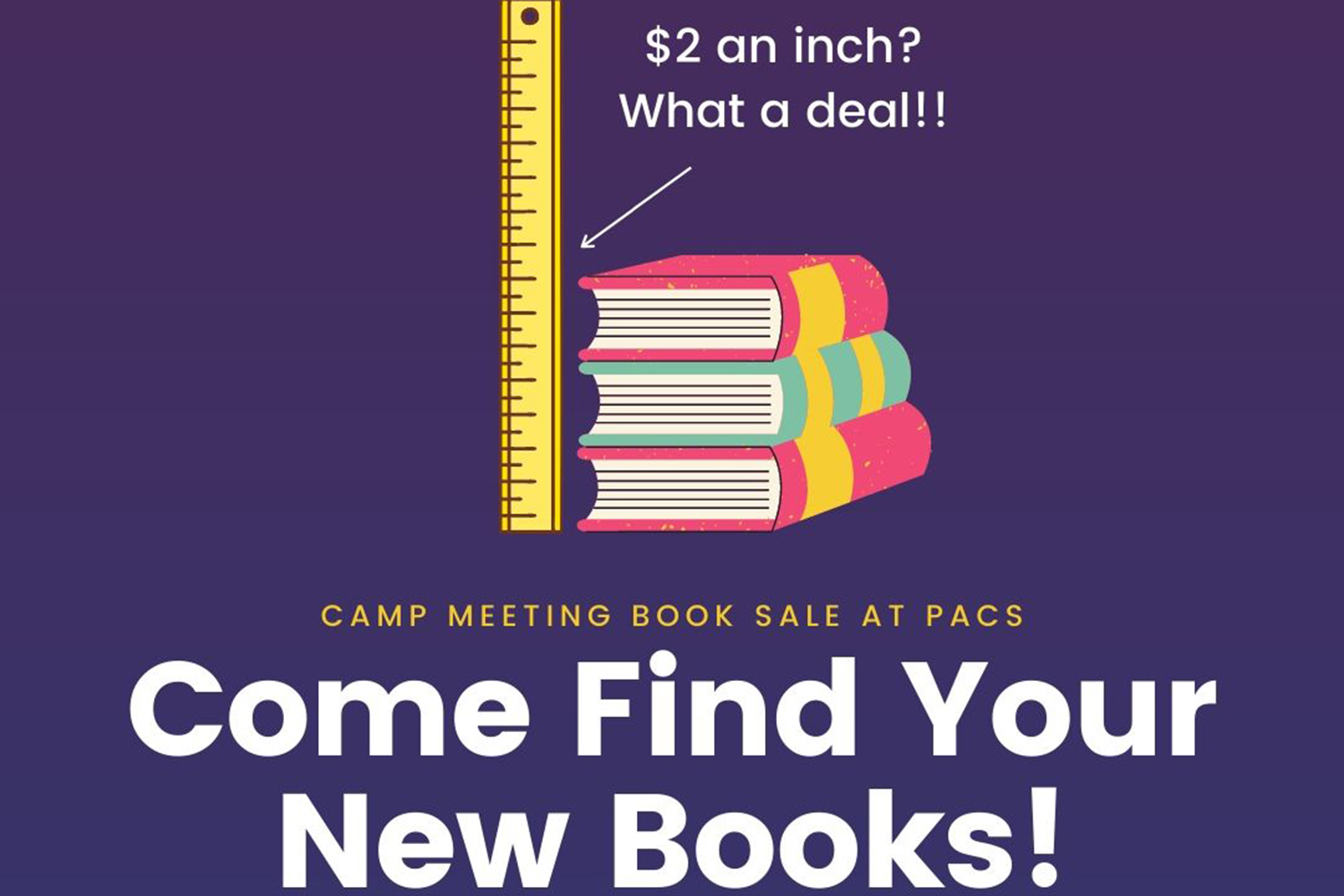 PACS Annual Camp Meeting Book Sale