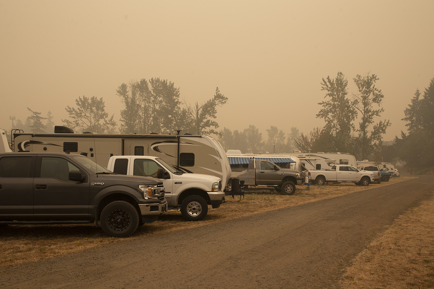Gladstone Campgrounds Fire Evacuation Site