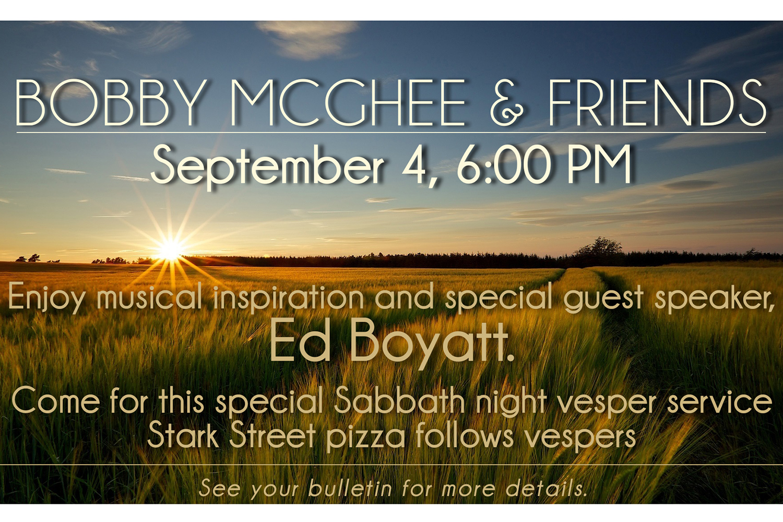 Bobby McGhee & Friends Weekend at Sunnyside