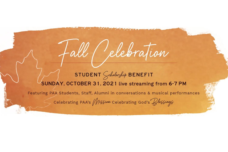 PAA Scholarship Benefit Fundraiser Livestream October 31