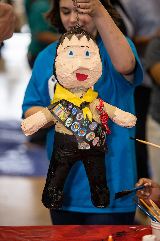 Pathfinder with paper mache pathfinder doll