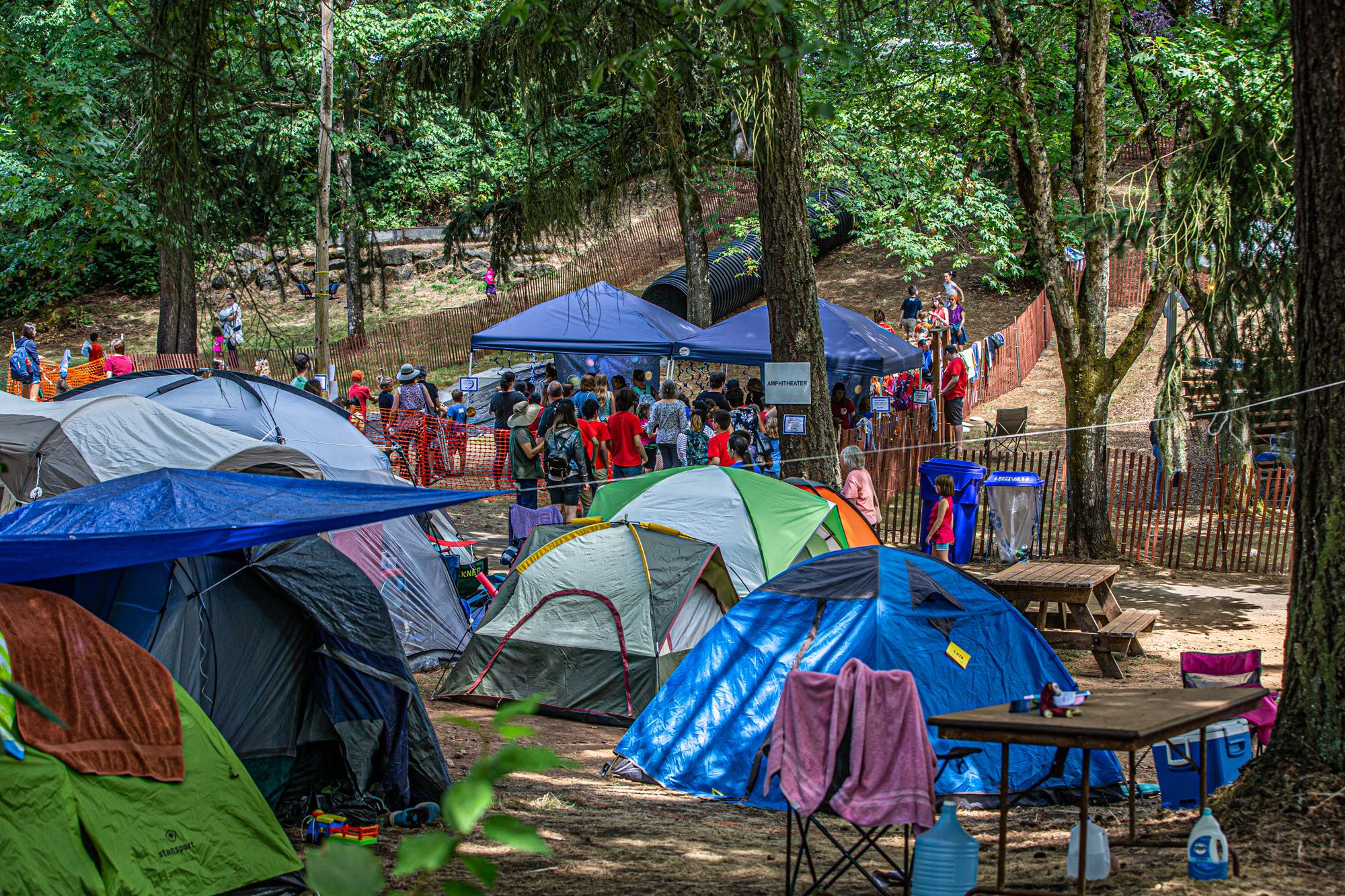 camping tents at camp meeting