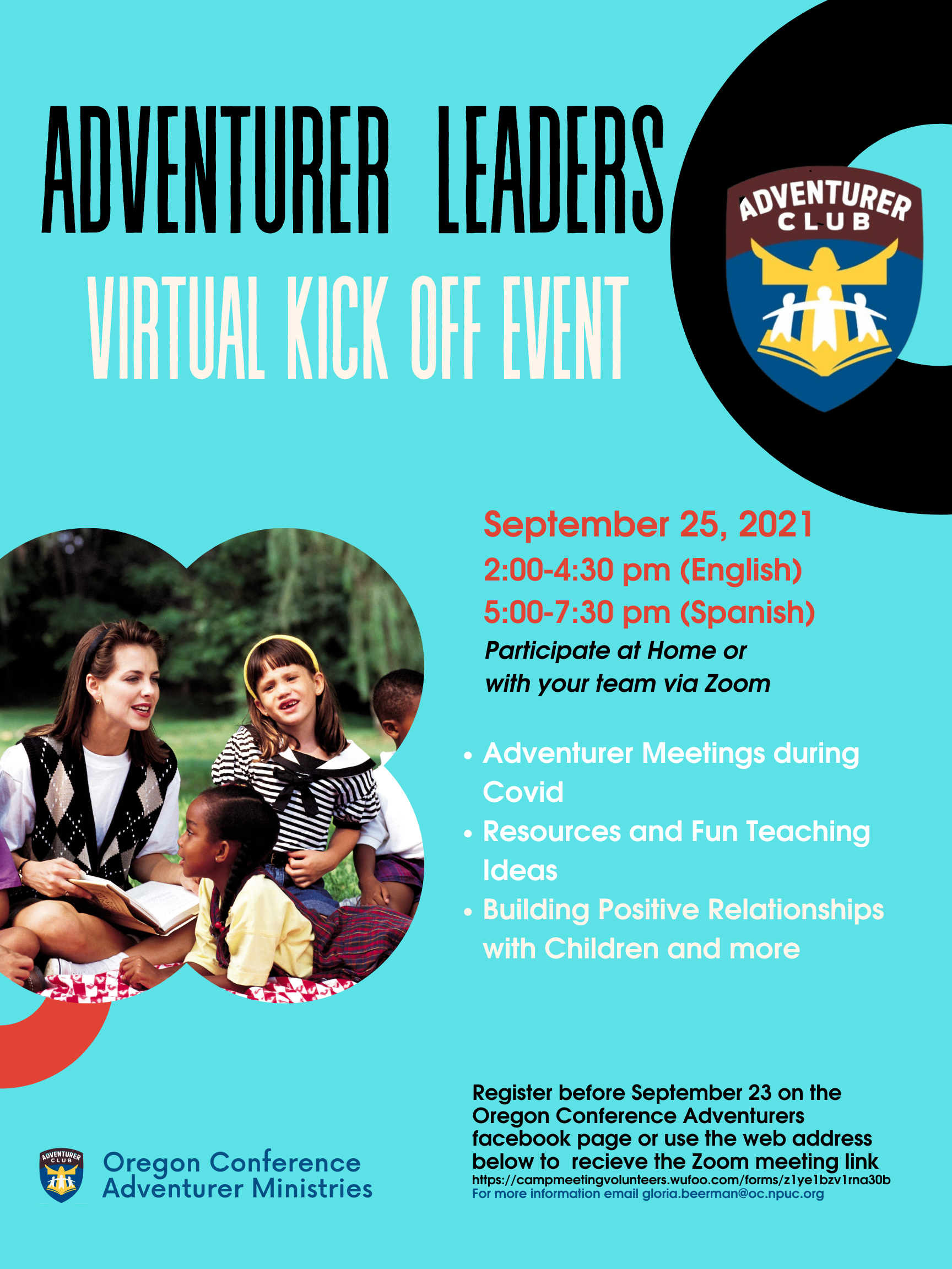 Adventurer leaders kick off event poster