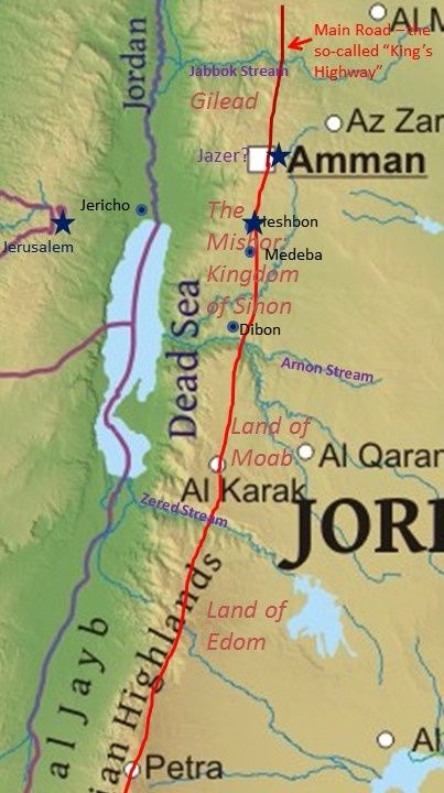 What Were Reuben and Gad's Territories in the Transjordan?