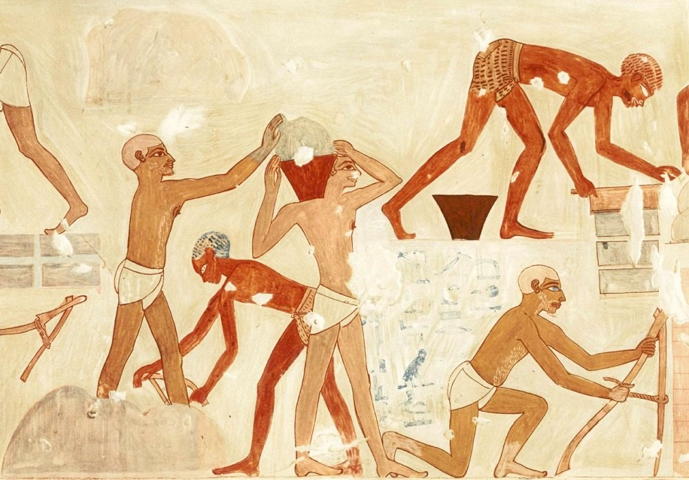 What Kind of Construction Did the Israelites Do in Egypt?