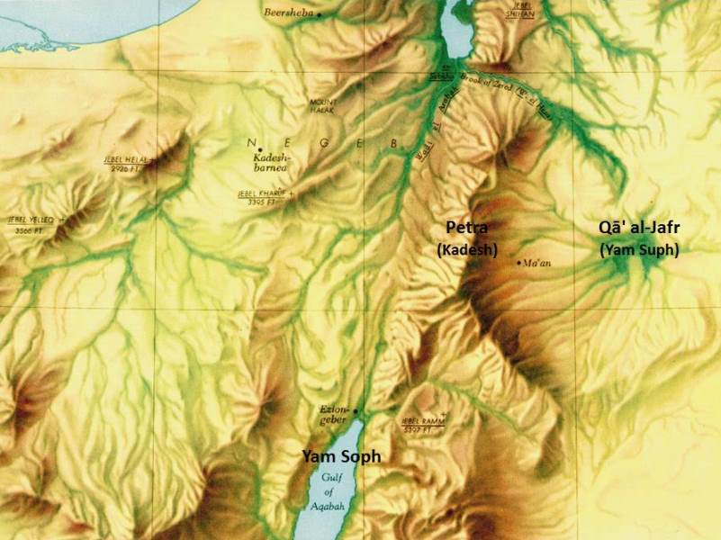 The Yam Suph in the Transjordan?