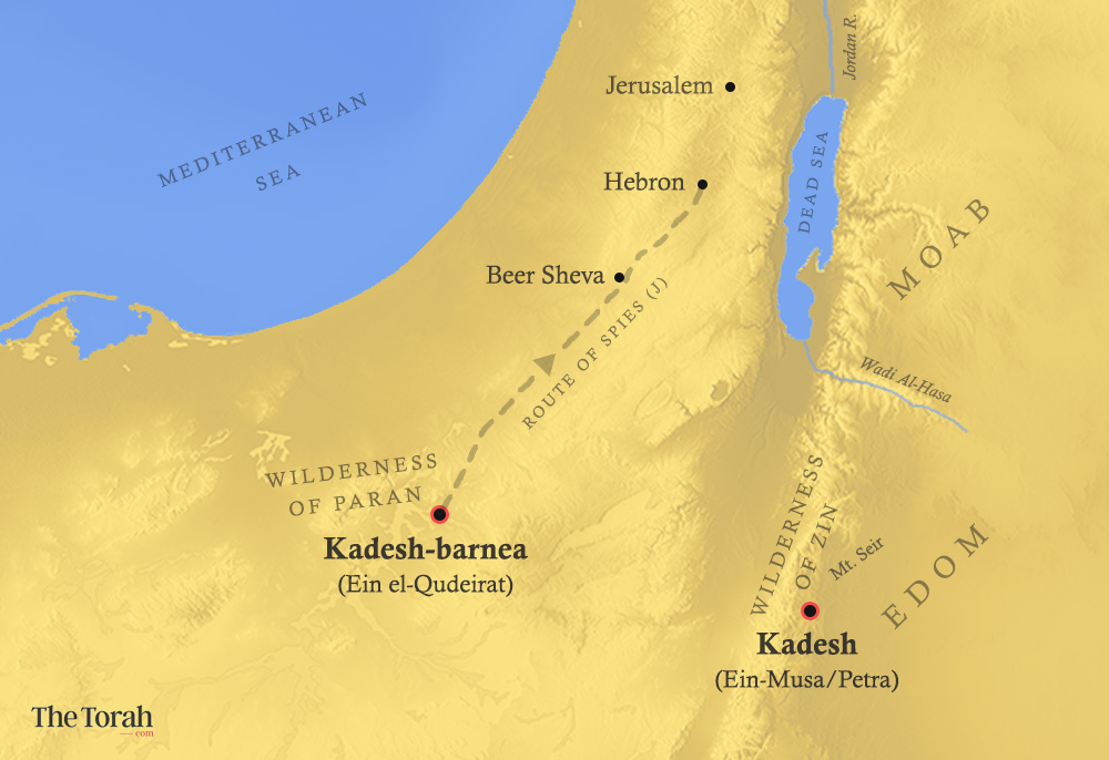 desert of paran map Solving The Problem Of Kadesh In The Wilderness Of Paran desert of paran map