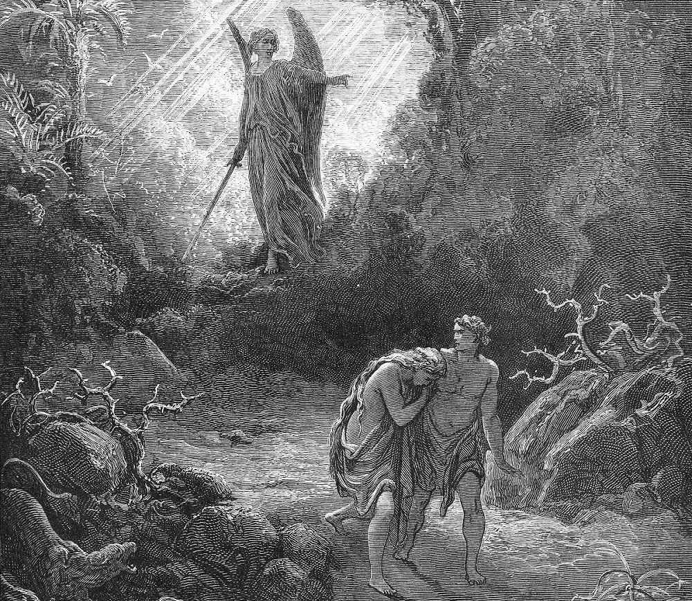God Abandons the Garden of Eden and Dwells with the Cherubim