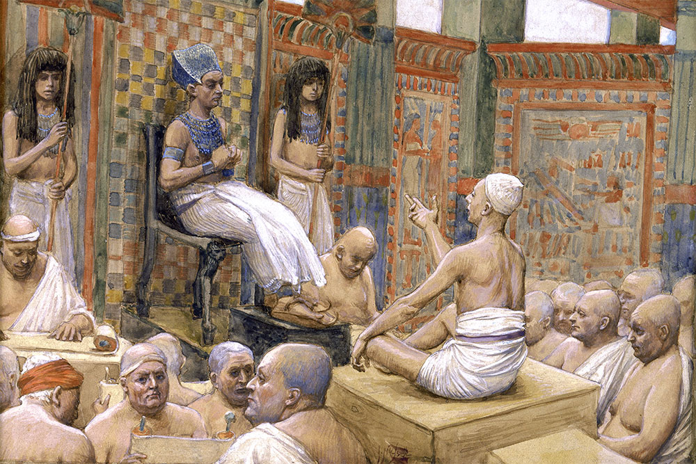 Pharaoh and Joseph Speak of a Common God to Save Egypt