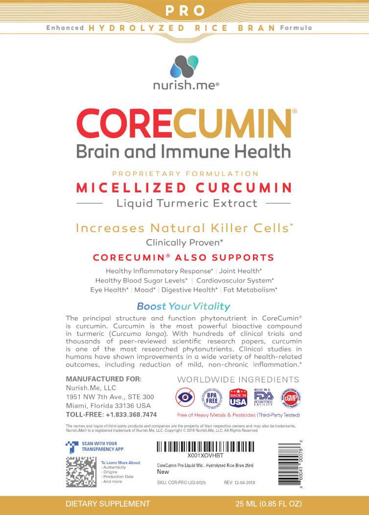 CoreCumin® Pro Advanced Formulation withHydrolyzed Rice Bran