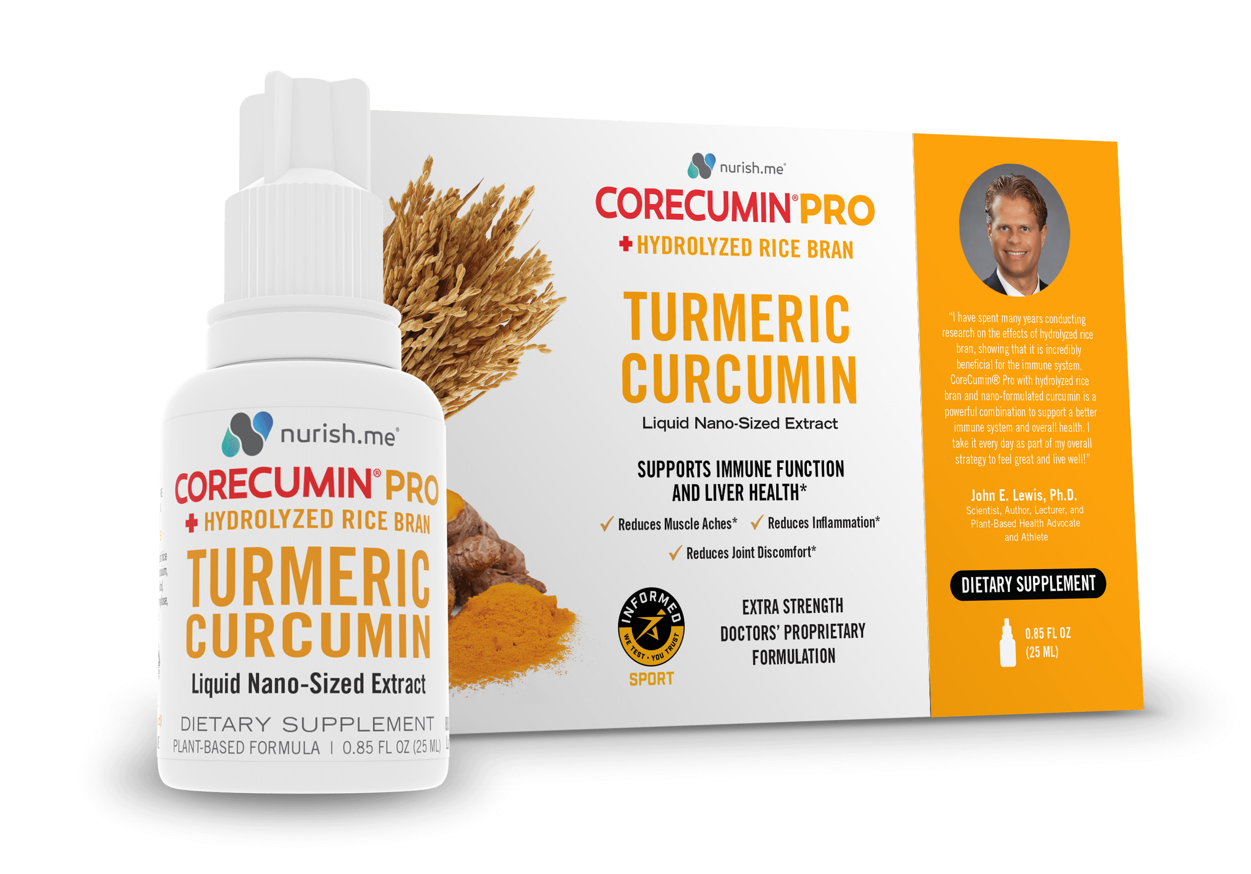 CoreCumin® Pro Advanced Formulation with Hydrolyzed Rice Bran