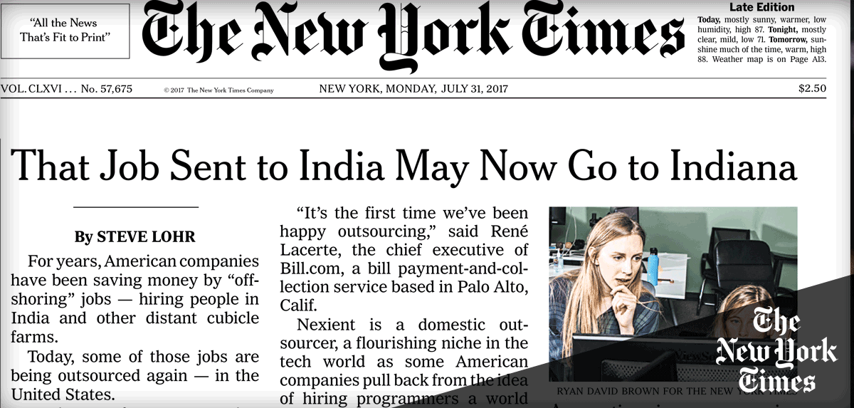 Image of New York Times Paper