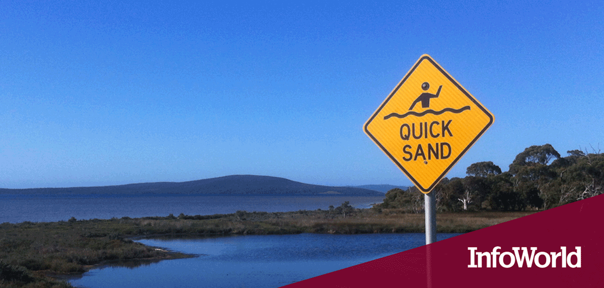 "Sign board saying ""Quick sand"""