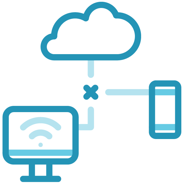 5G, IoT connection icon, blue