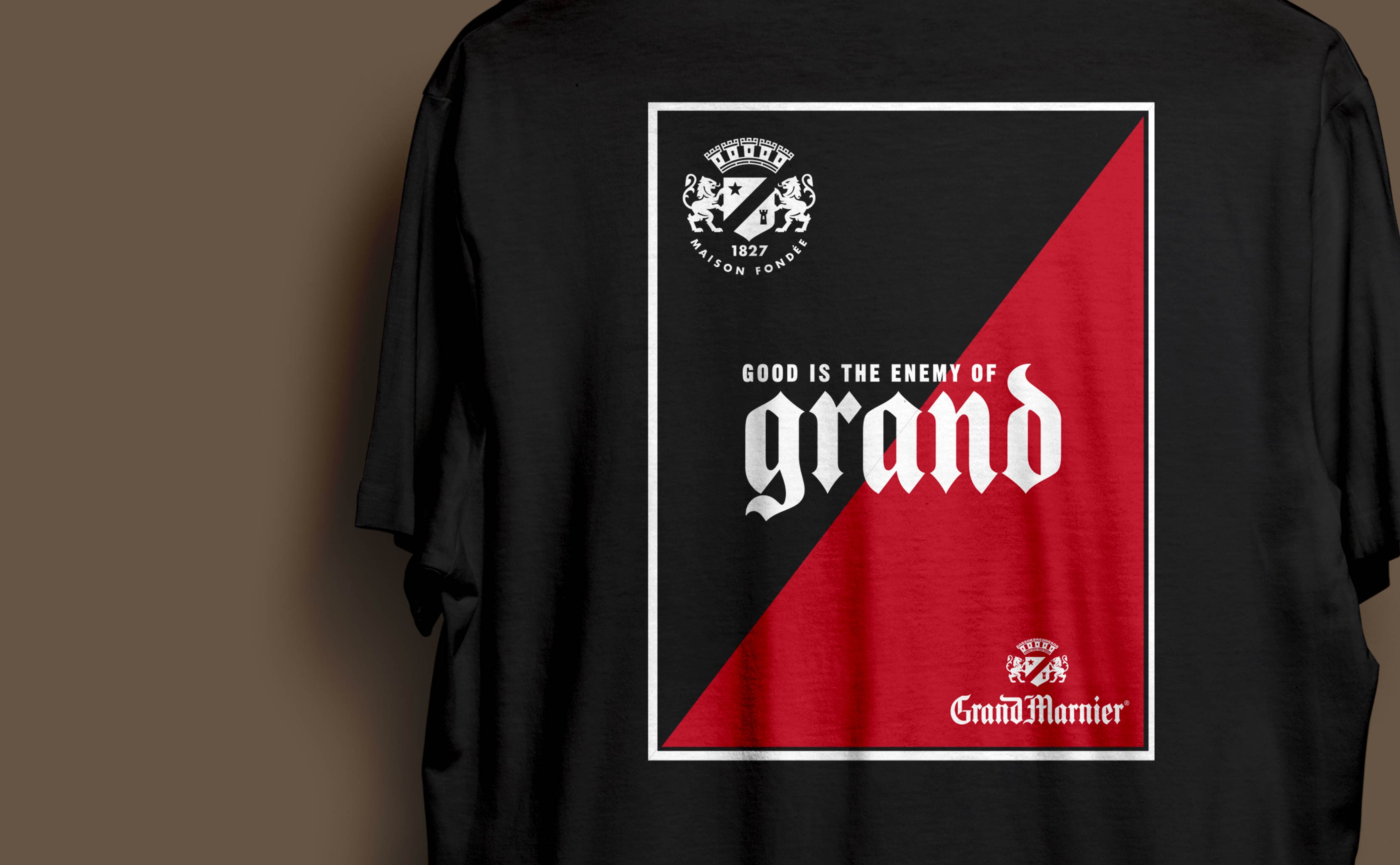 """T-Shirt Design for Grand Marnier's ""Live Grand"" marketing campaign."""