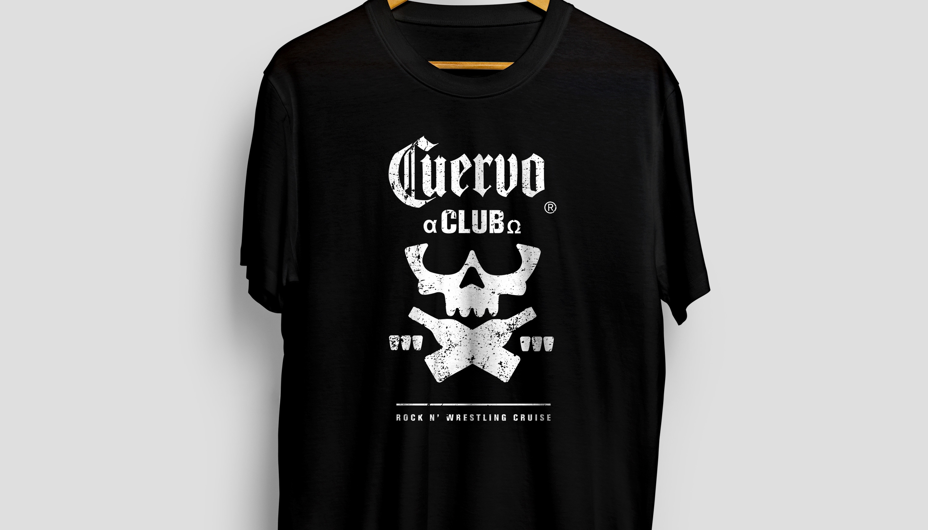 """Cuervo Club T-Shirt design for the José Cuervo Rock N' Wrestling Cruise. This design pays homage to wrestler Chris Jericho's popular Bullet Club design."""