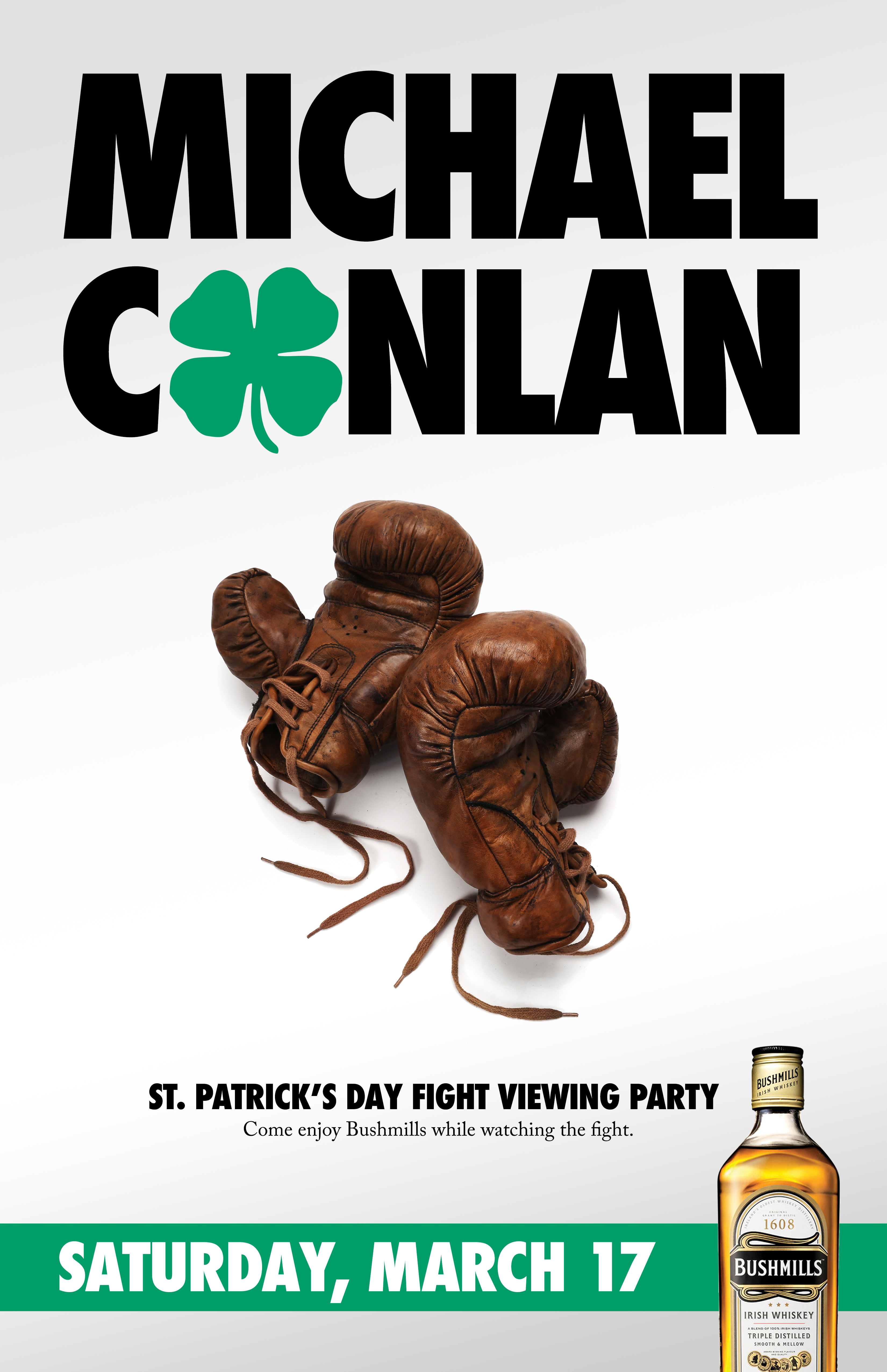 """Series of posters for the Michael Conlan St. Patrick's Day Fight at the Theater at Madison Square Garden."""