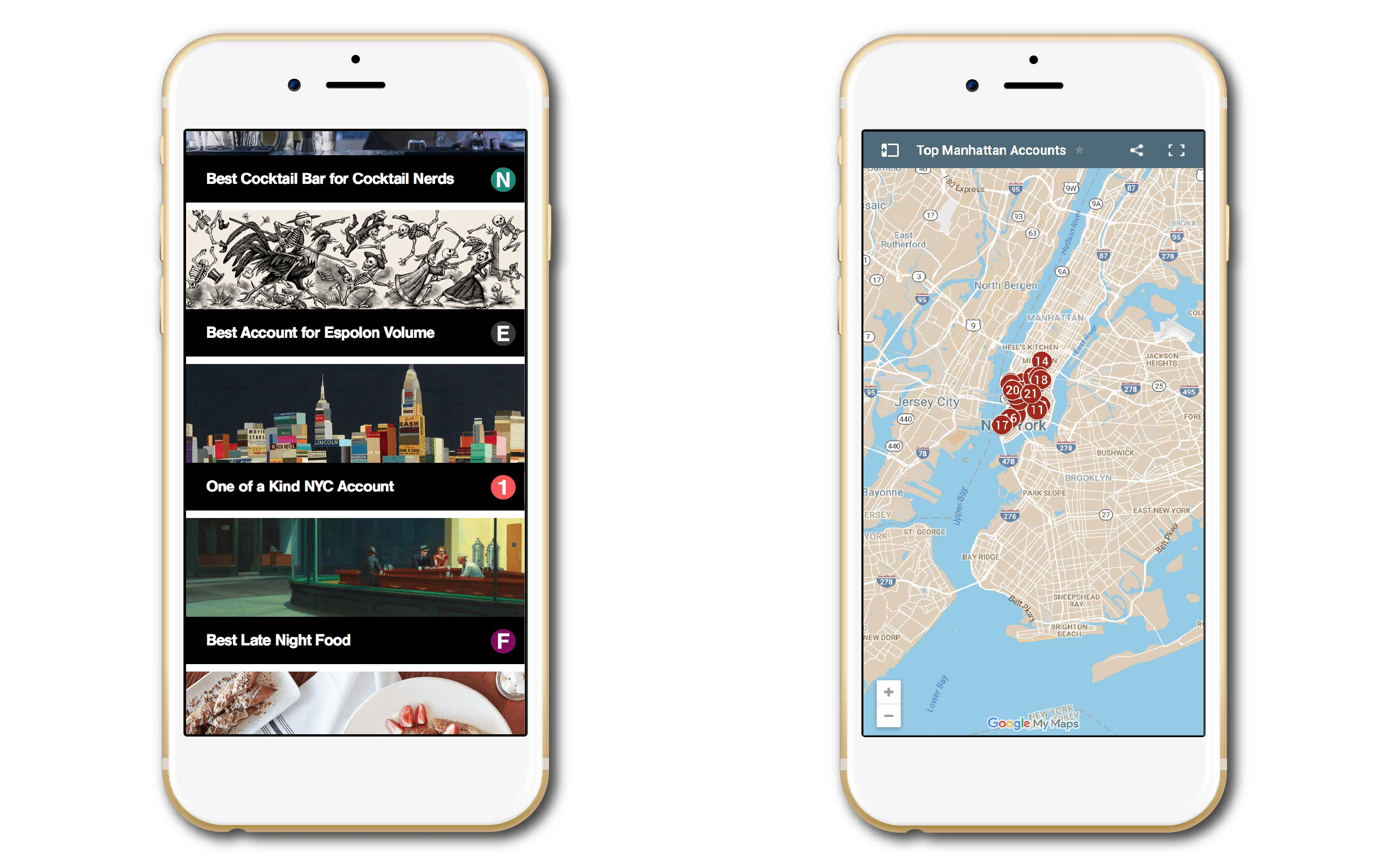 """""""Campari Maps Web App for the internal sales teams to categorize and locate their New York City based accounts."""""""