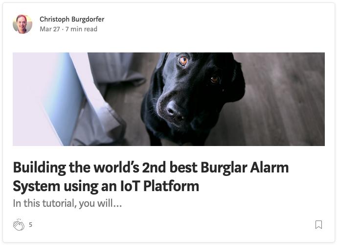 IoT de バーチャル番犬の紹介記事はこちら