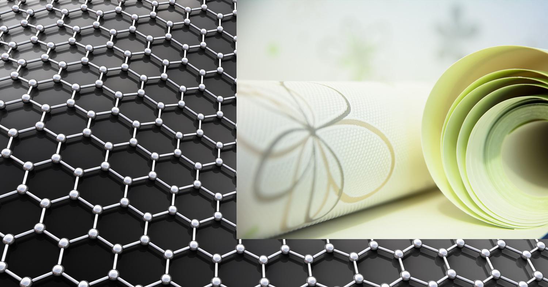炭素新素材グラフェン(Graphene):炭素のみで構成された新素材(正六角形状の格子を組む炭素原子の層からなるシート状の素材)