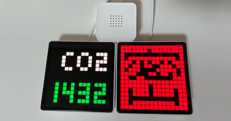 """【初心者が10分で実践するIoT・番外編】Gravio 4で取得したCO2センサーのデータを、一目で分かる視認性を誇る""""Gravio LEDマトリックス""""を使ってわかりやすく可視化してみた!"""
