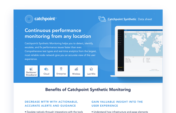 Catchpoint | Synthetic Monitoring