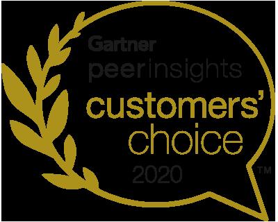 Gartner Peer Insights - customers' choice 2020
