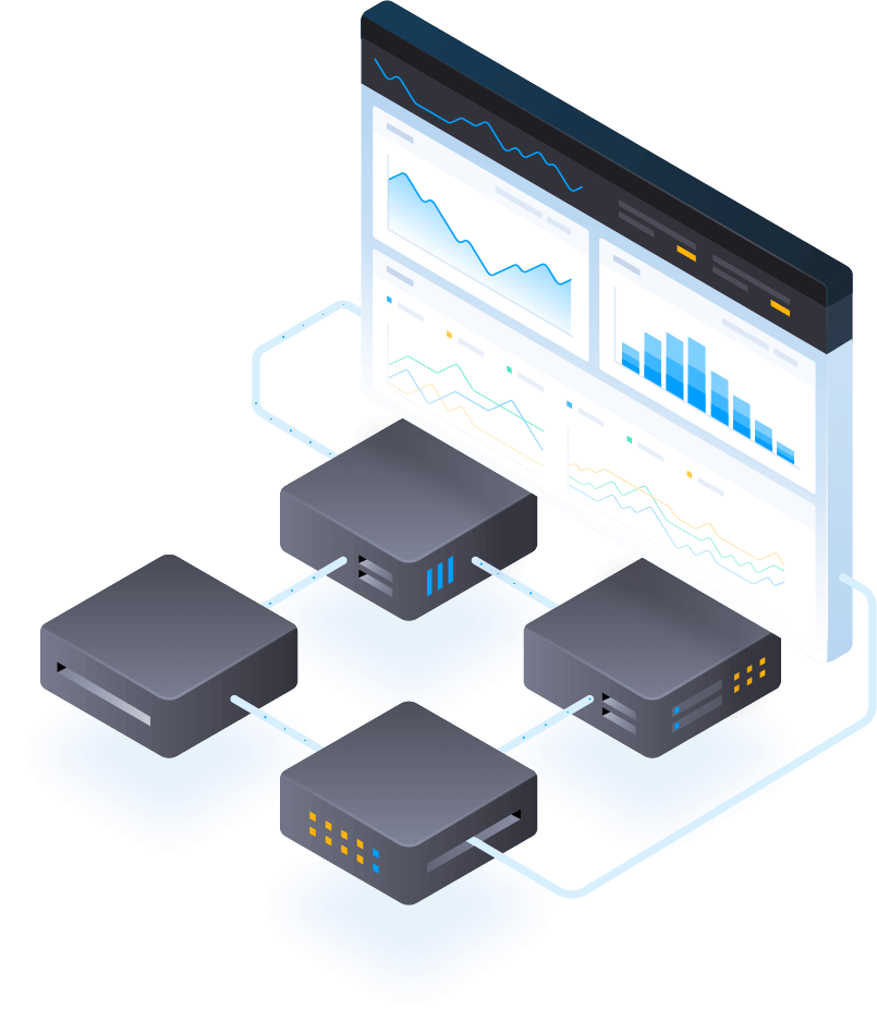 illustrations-of-connected-nodes-to-report-on-performance