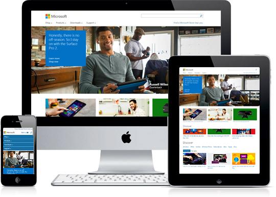 Responsive Microsoft.com