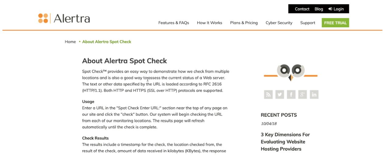 Spot Check by Alertra