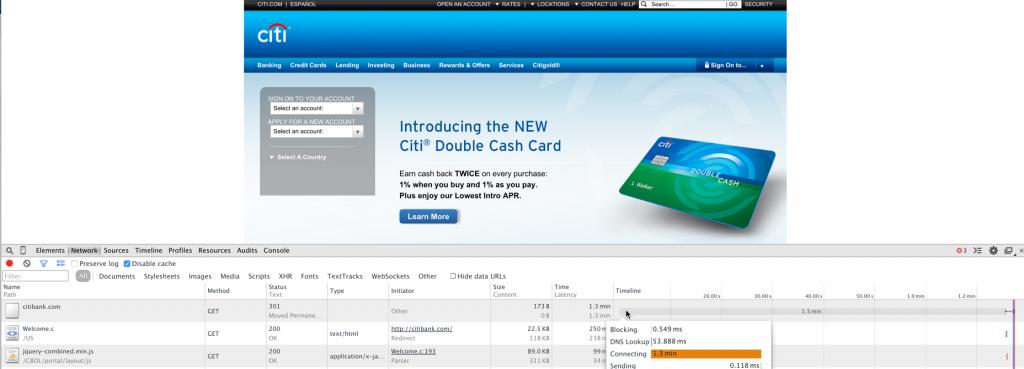 Citibank Browser Dev Tool