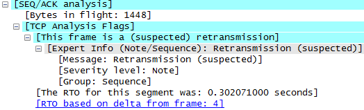 RTO packet capture