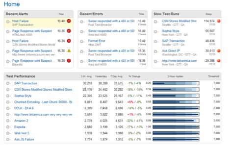 Web Performance Monitoring Dashboard
