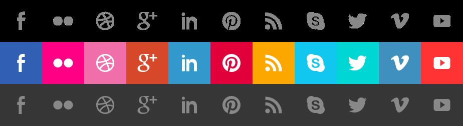 social media icons sprite optimization