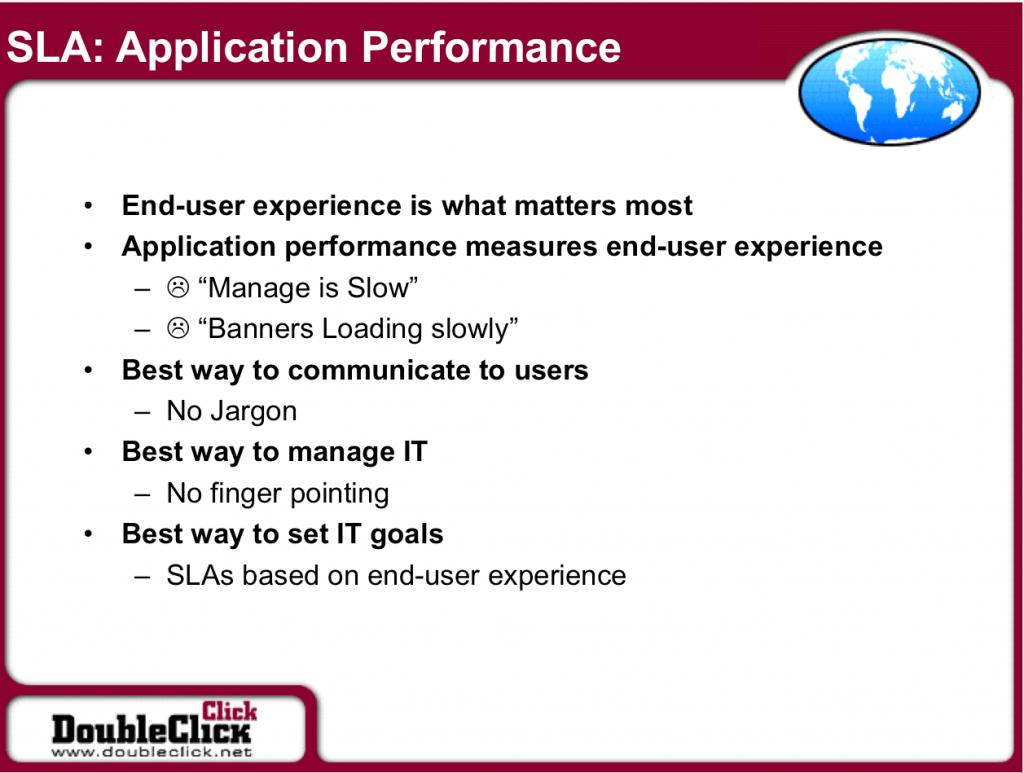 SLA Application Performance