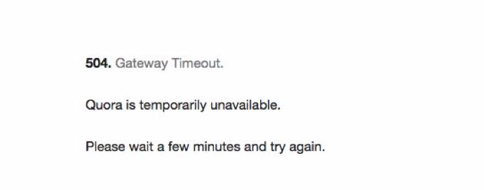 Quora error message