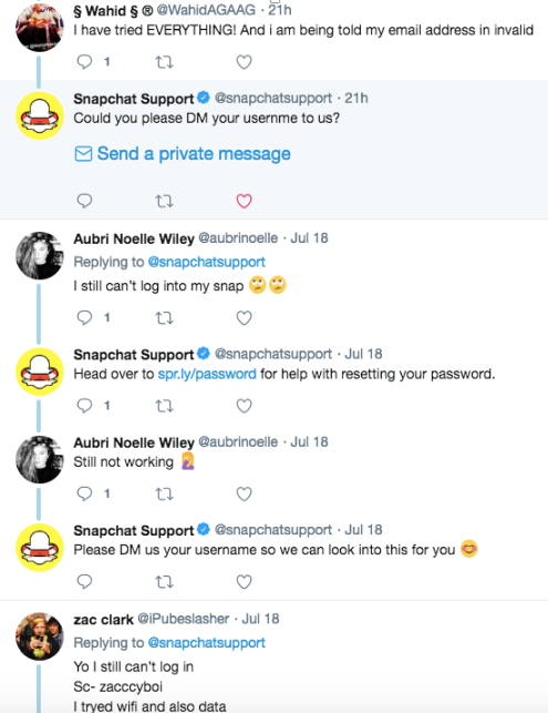snapchat users google cloud outage