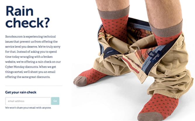 website availability bonobos example