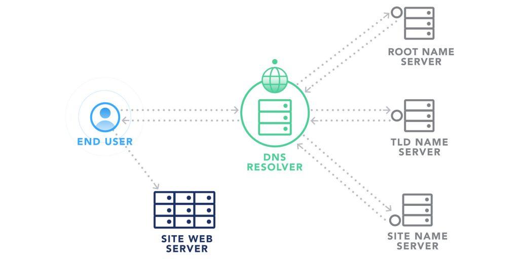 network insights and DNS monitoring diagram